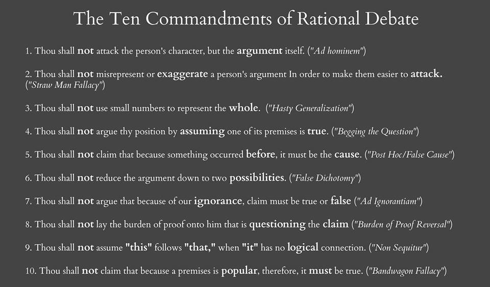 Source: http://www.relativelyinteresting.com/10-commandments-rational-debate-logical-fallacies-explained/